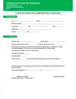 Contrat de location de mobil-home