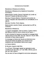 Message de Monsieur Bernard Justet